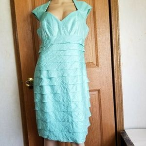London Style Mint green Bandage Empire waist midi